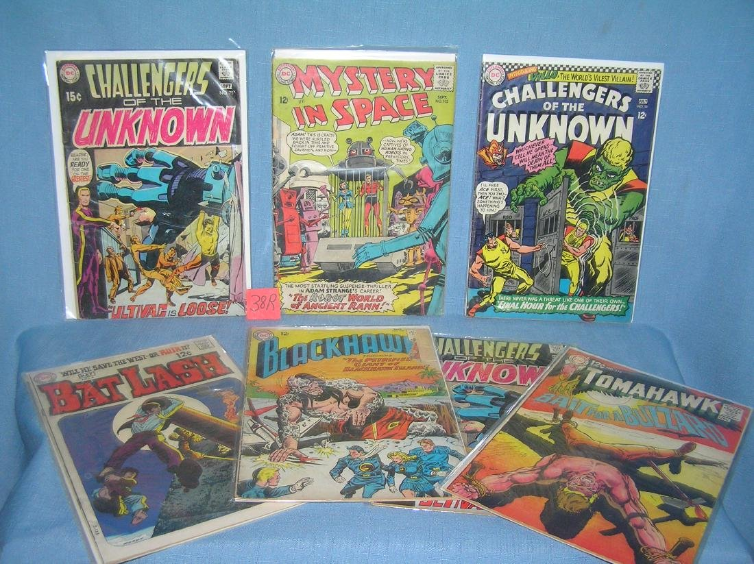 Group of early space and horror comic books