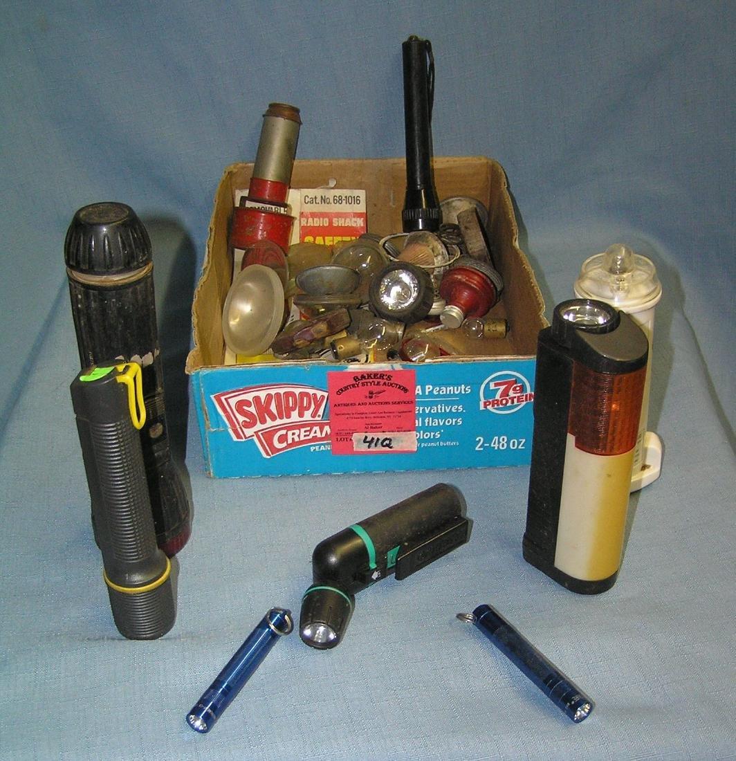 Box full of flashlights