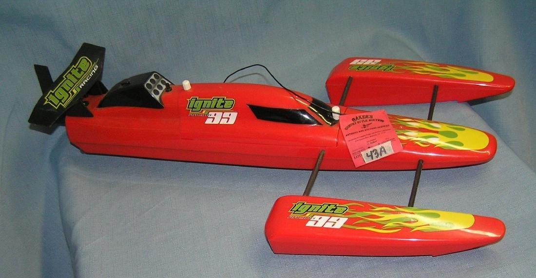 Ignite racing battery operated racing boat
