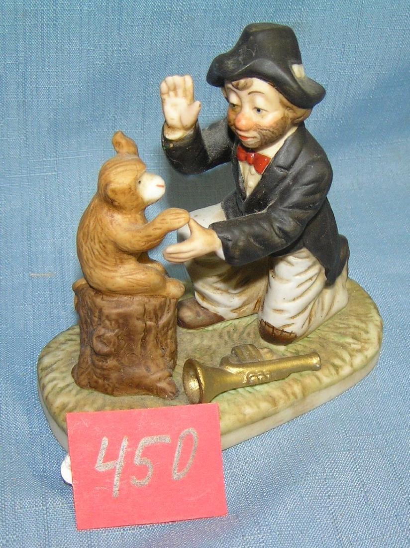 Emmet Kelly style figurine titled Willie Says