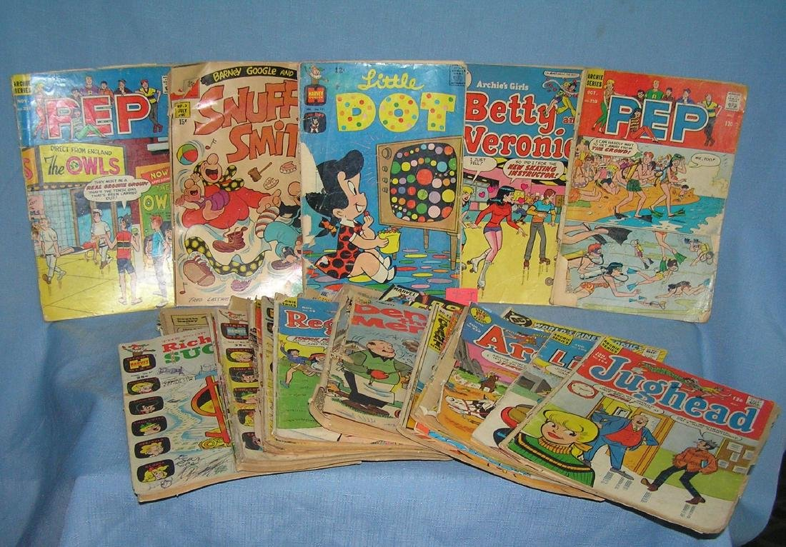 Large group of early comic books