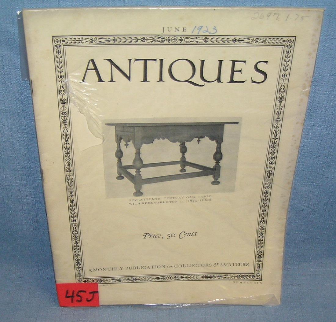 Antique Magazine June 1923