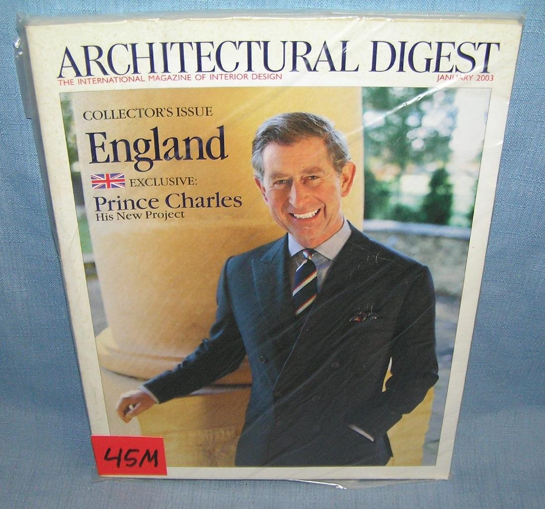 Archetectural Digest with Prince Charles cover