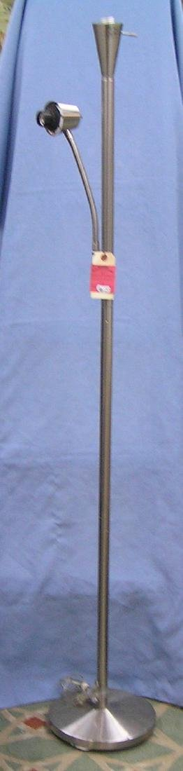 Chrome double lamp floor lamp