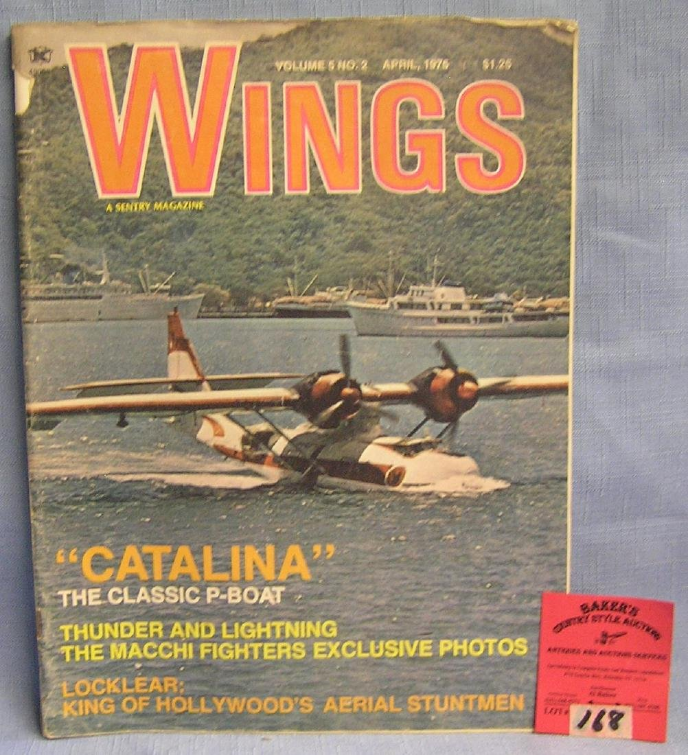Vintage WINGS aviation magazine
