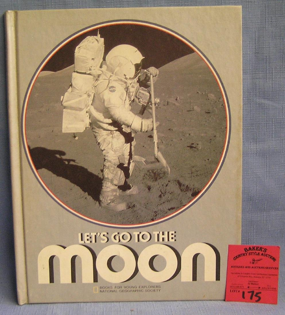 Let's go to the moon vintage space book