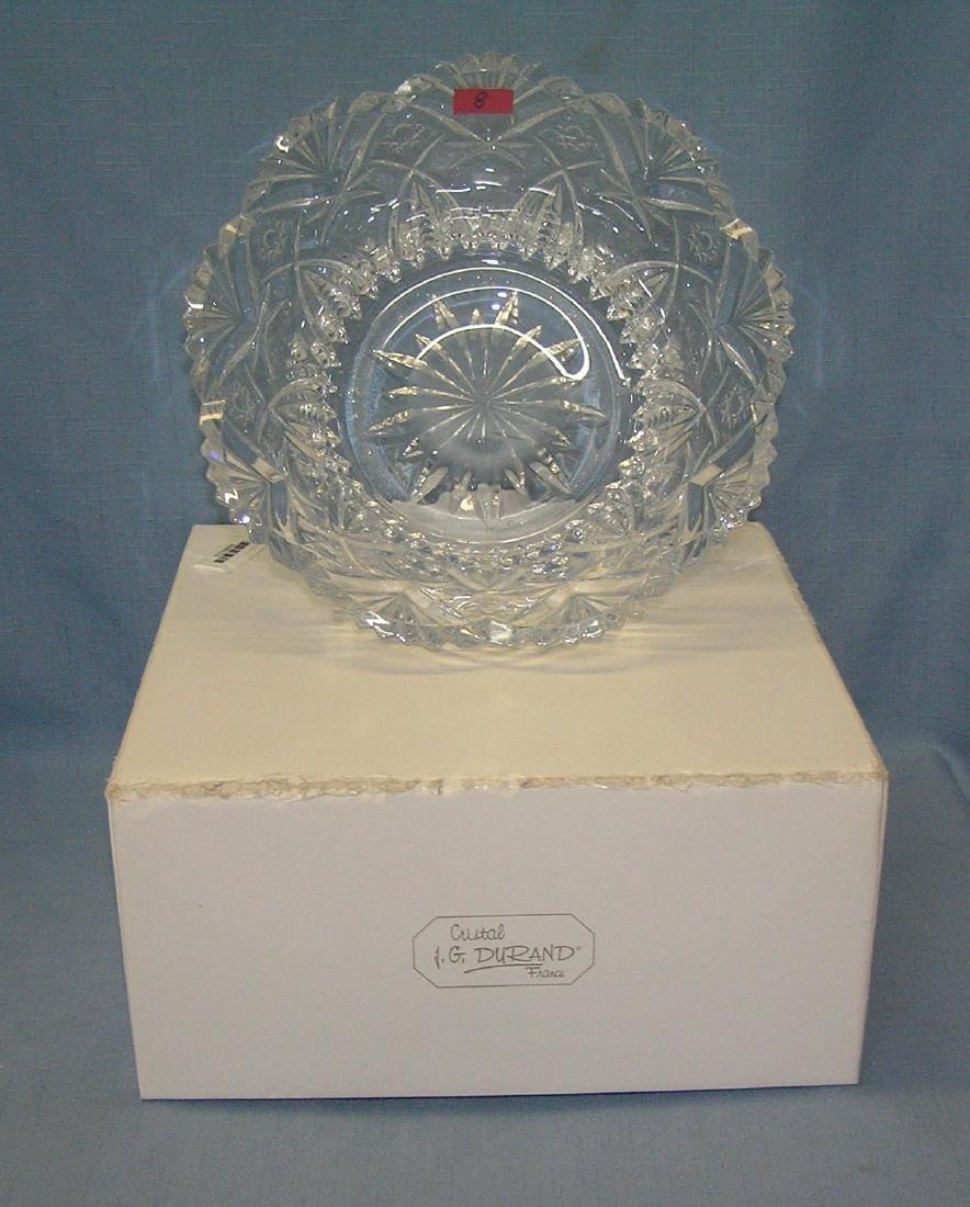 Heavy lead crystal serving bowl