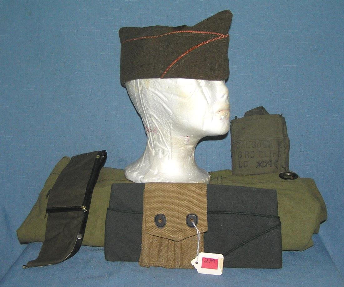 Group of vintage military collectibles