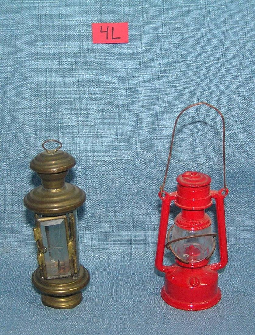 Pair of vintage miniature lanterns