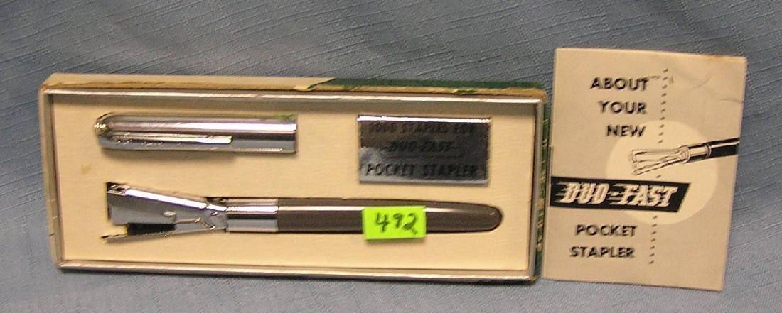Vintage Duo Fast pocket stapler kit