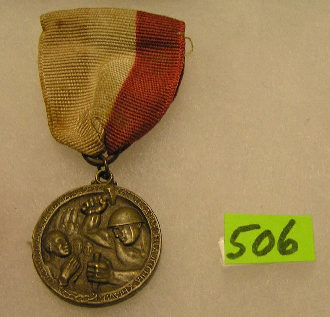 Early military medal and ribbon