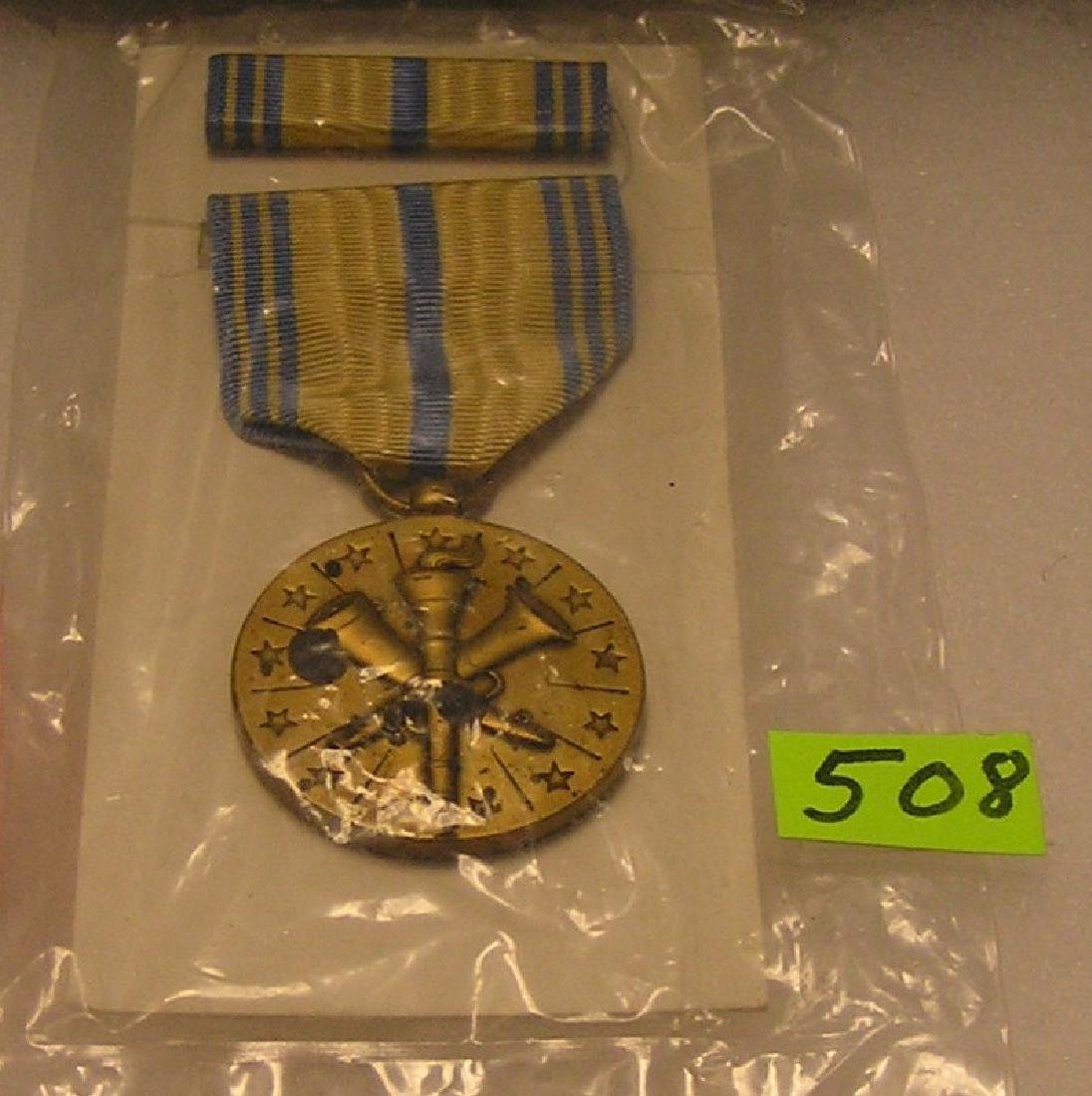Armed forces medal ribbon and bar set