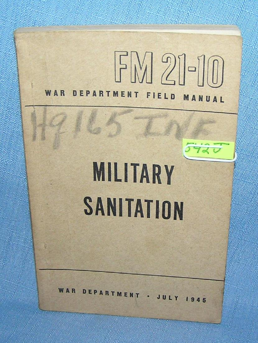 Military sanitation War Dept Field Manuel 1945