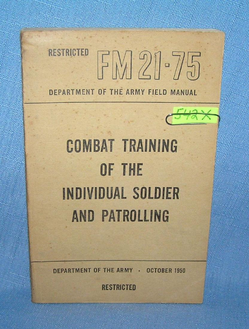 Combat training of the individual soldier