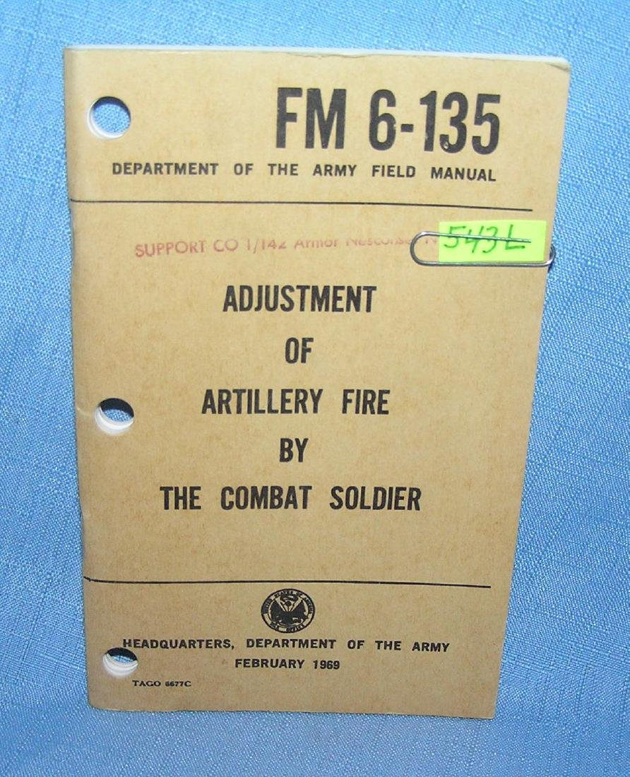 Adjustment of artillery fire by the combat soldier