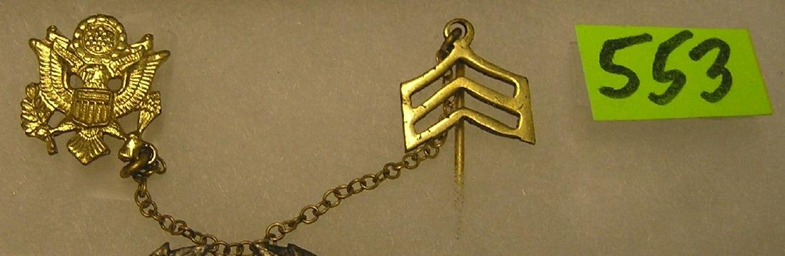 US Army stick pin and medal
