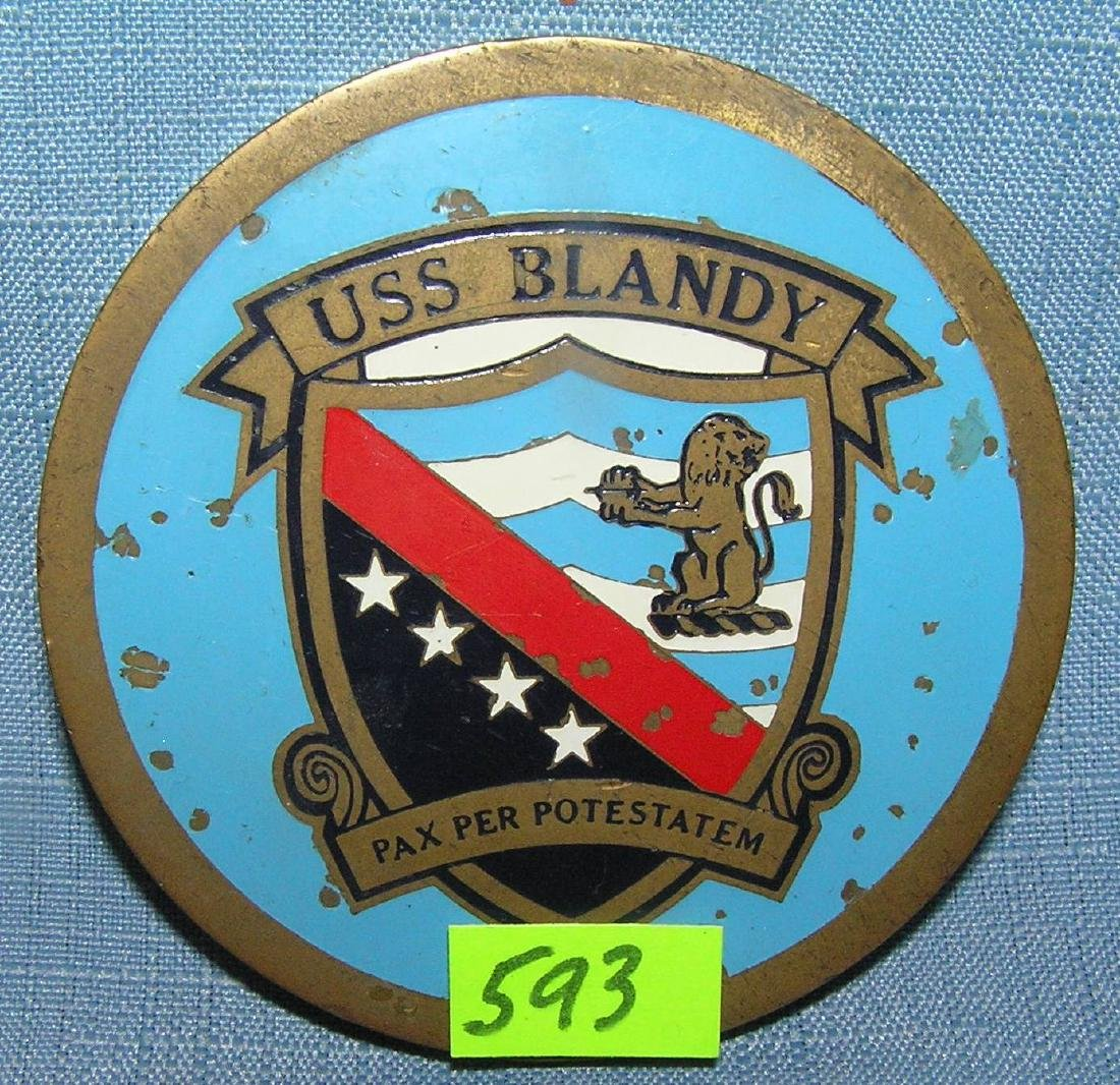 WWII USS Blandy military paperweight