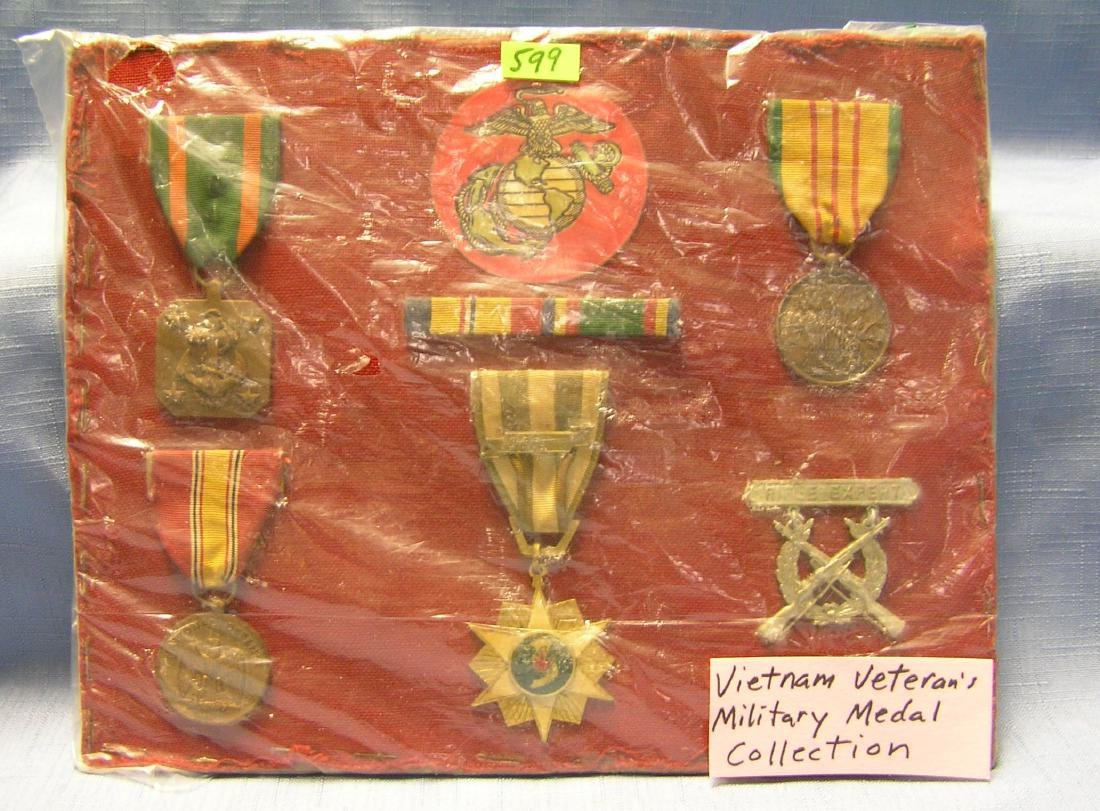 Vietnam veterans military medal collection