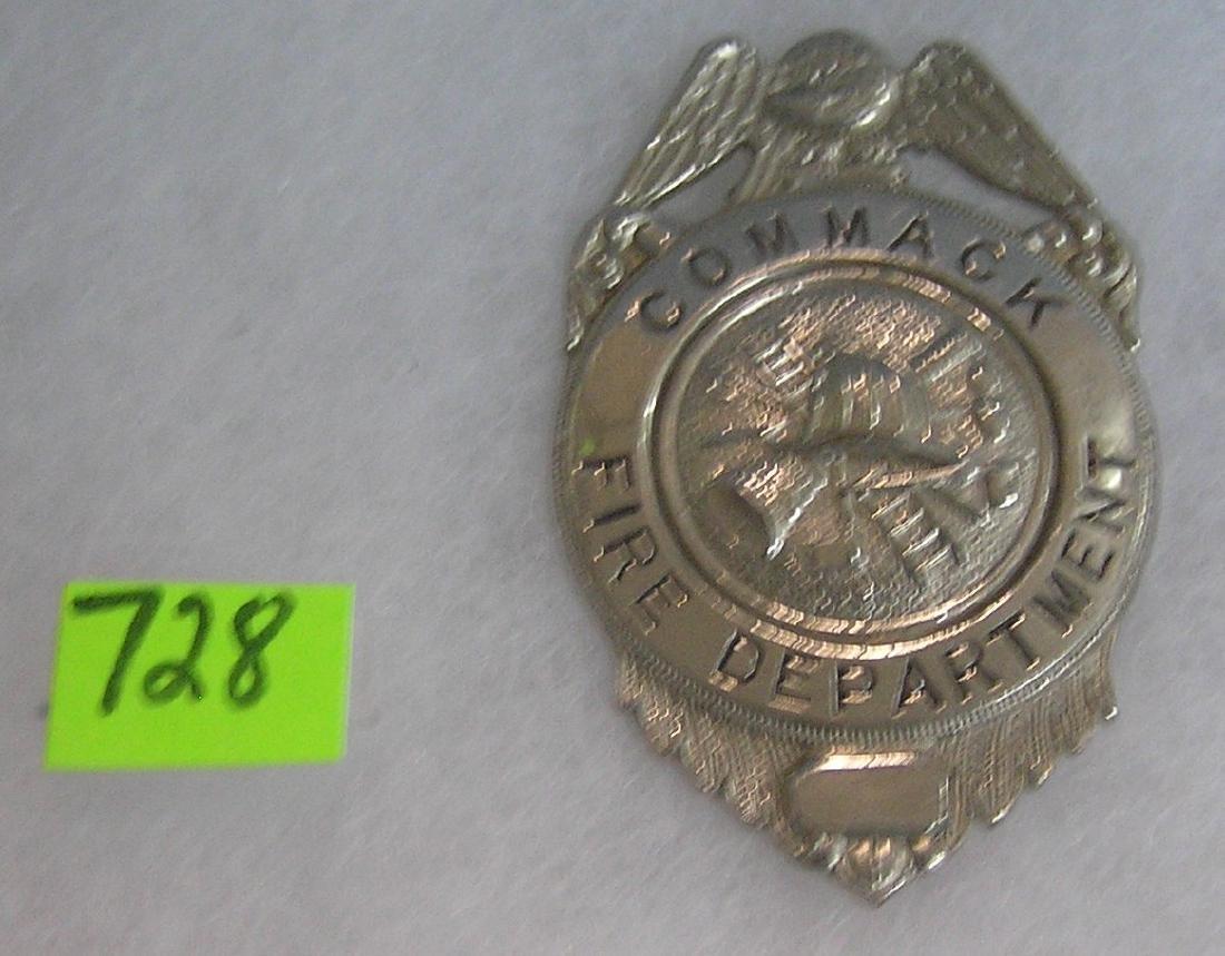 Vintage Commack Long Island fire dept badge