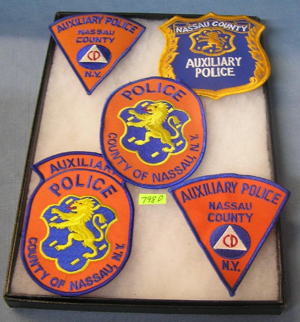 Group of vintage police patches