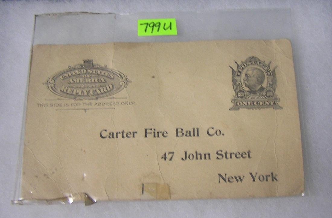 Antique fire grenade trade card