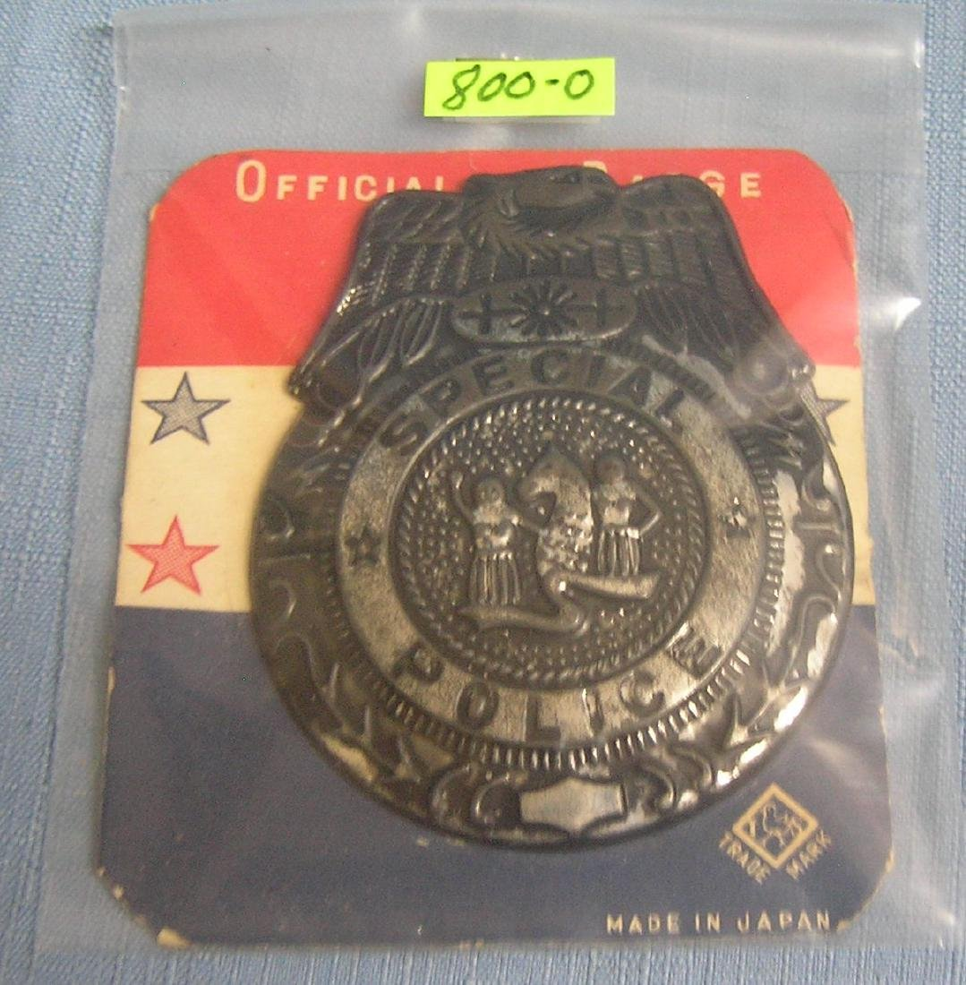 Vintage Tin official special police toy badge
