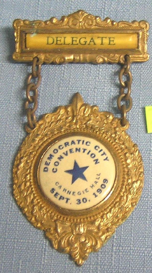 Carnegie hall democratic convention badge