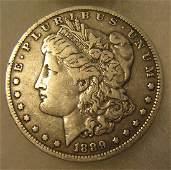 1889O Morgan silver dollar in fine condition