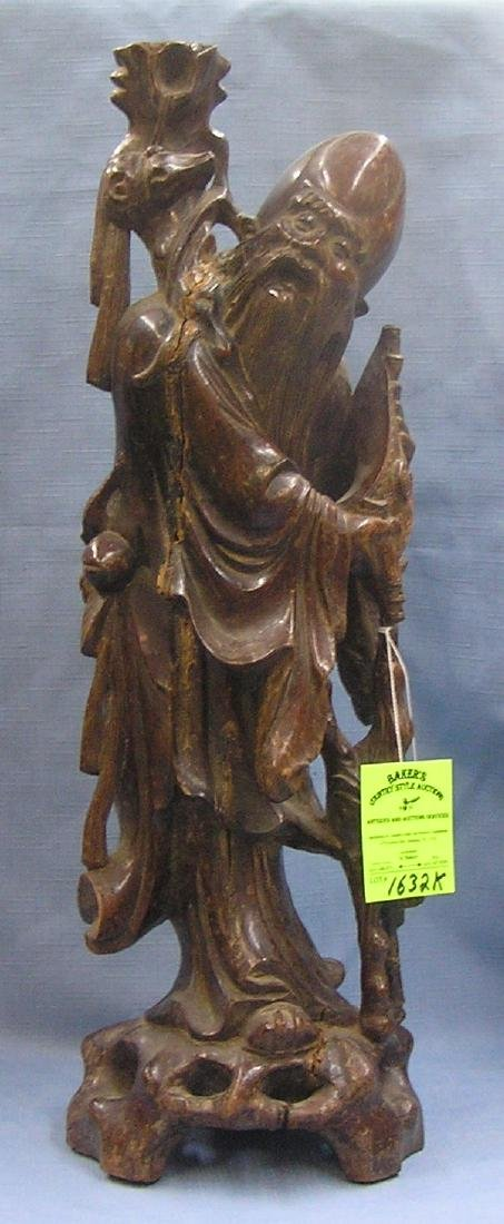 Large hand carved oriental Wiseman figure
