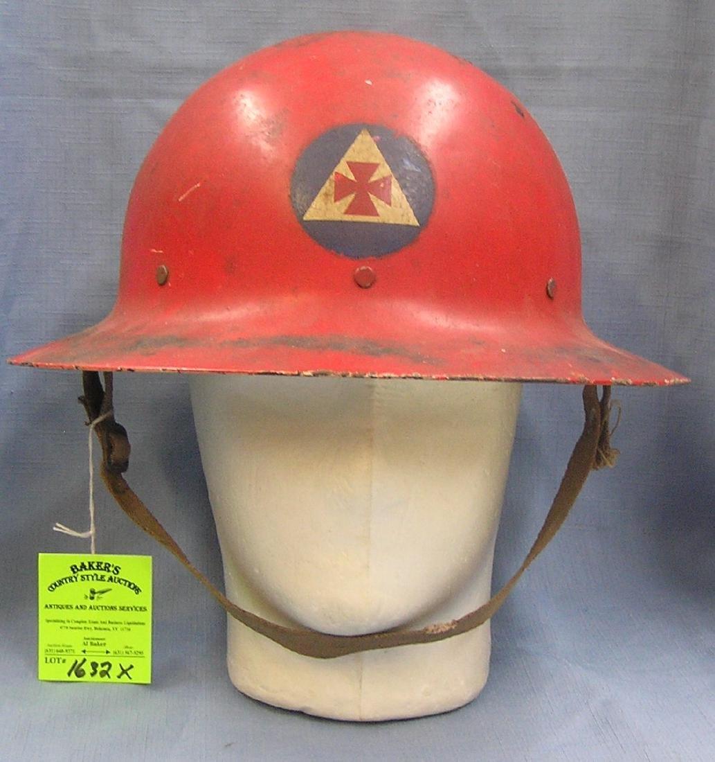 Early WWII era NYC FD air raid helmet