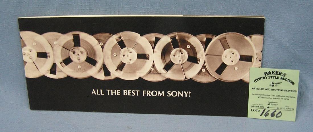 Vintage Sony reel to reel catalog