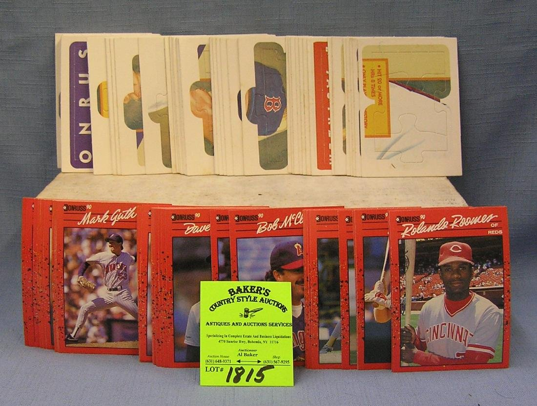 1990 Donruss baseball card set w/ puzzle cards