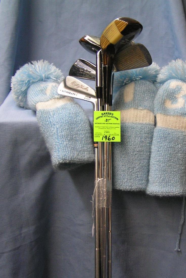 Vintage Beth Daniel golf club set