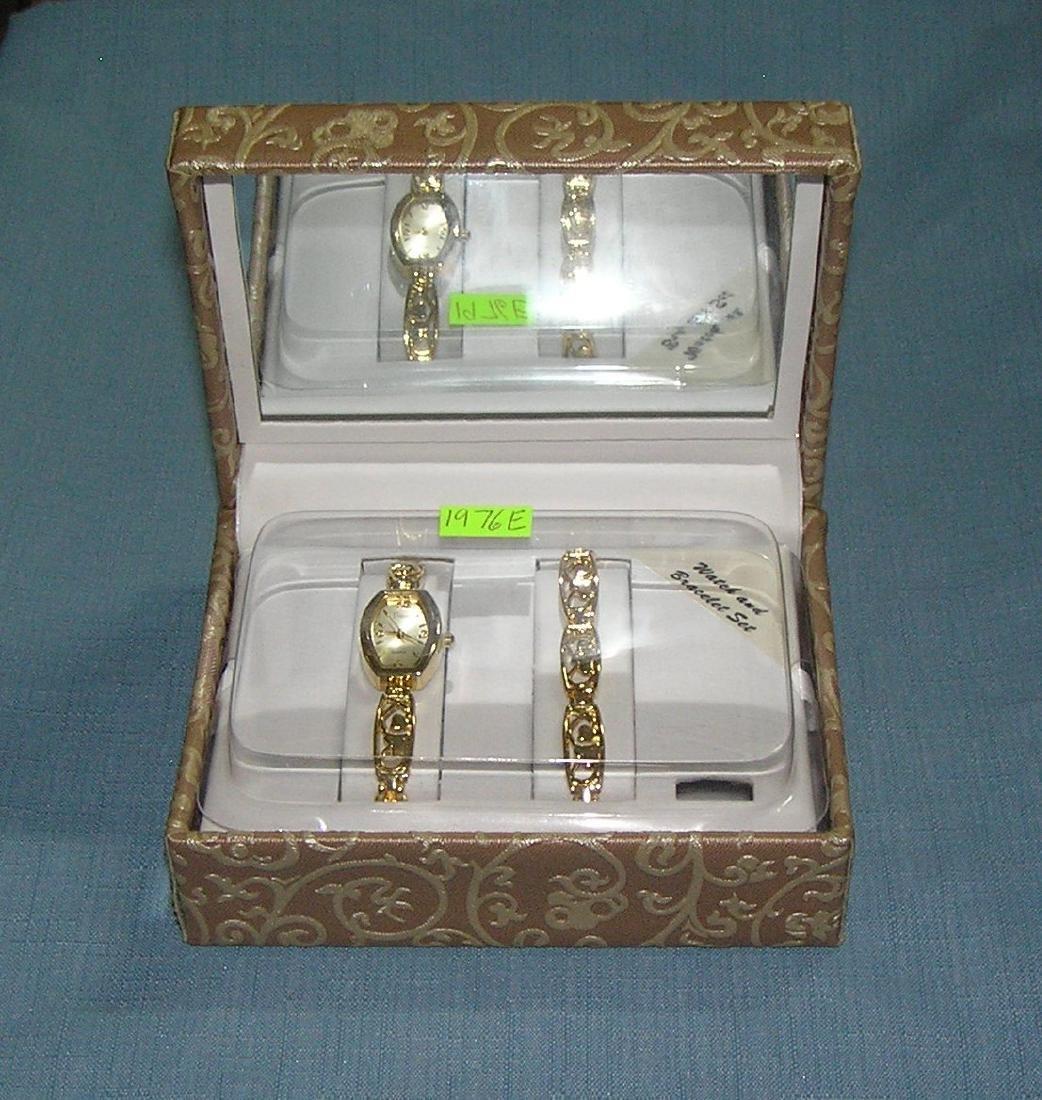 Vintage Vivani watch and bracelet set