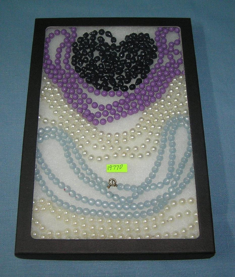 Collection of vintage beaded necklaces