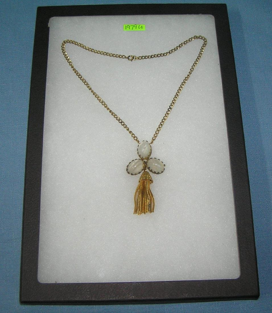 Antique high quality tasseled necklace