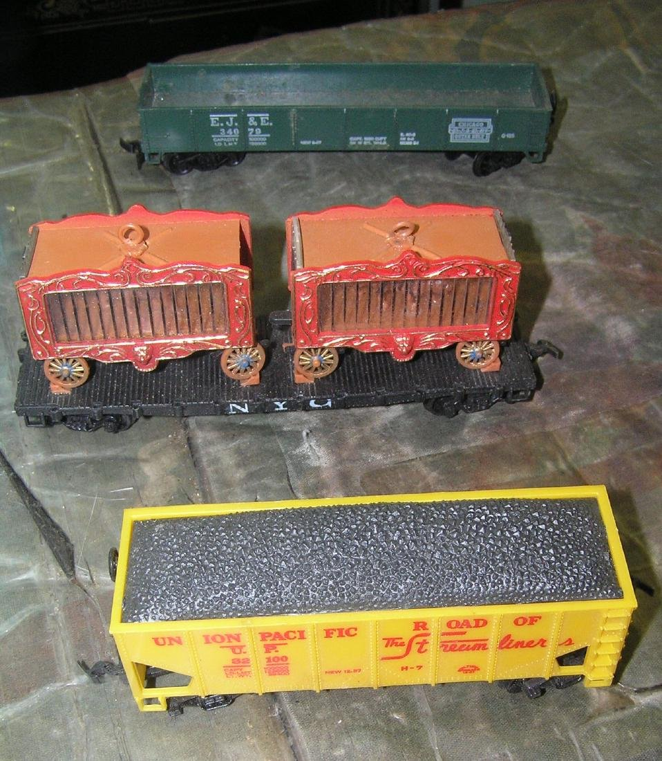 Collection of vintage toy trains
