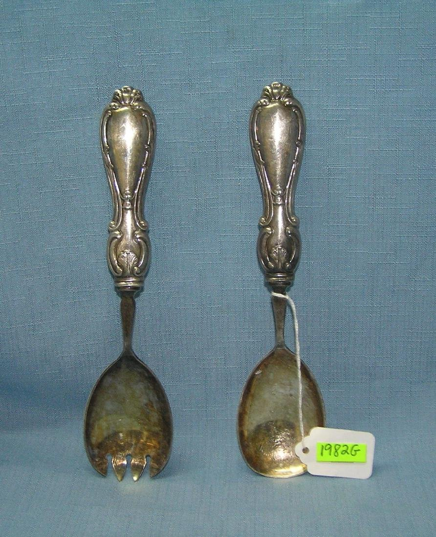 Sheffield England sterling pair of salad servers