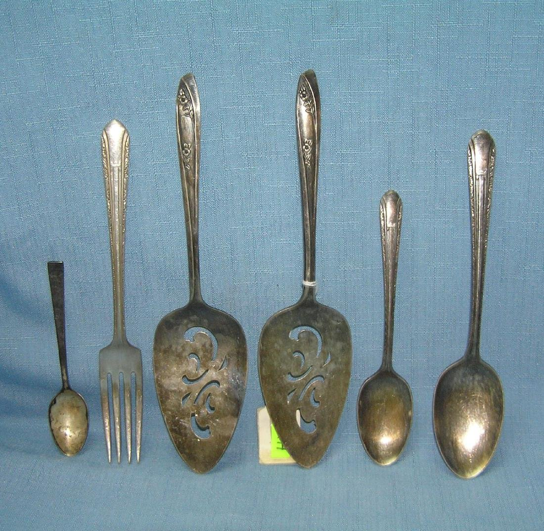 6 pieces of vintage silver plate serving pieces