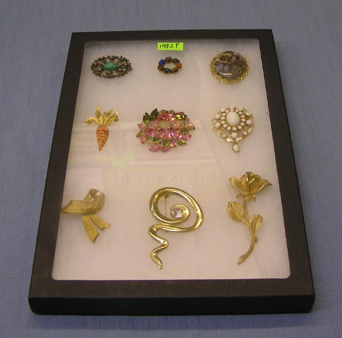 Collection of high quality costume jewelry pins