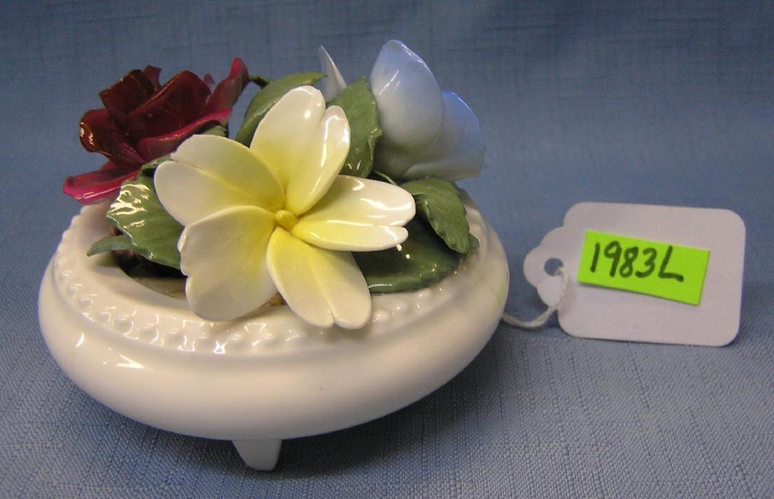 Crown Staffordshire fine bone china floral bowl