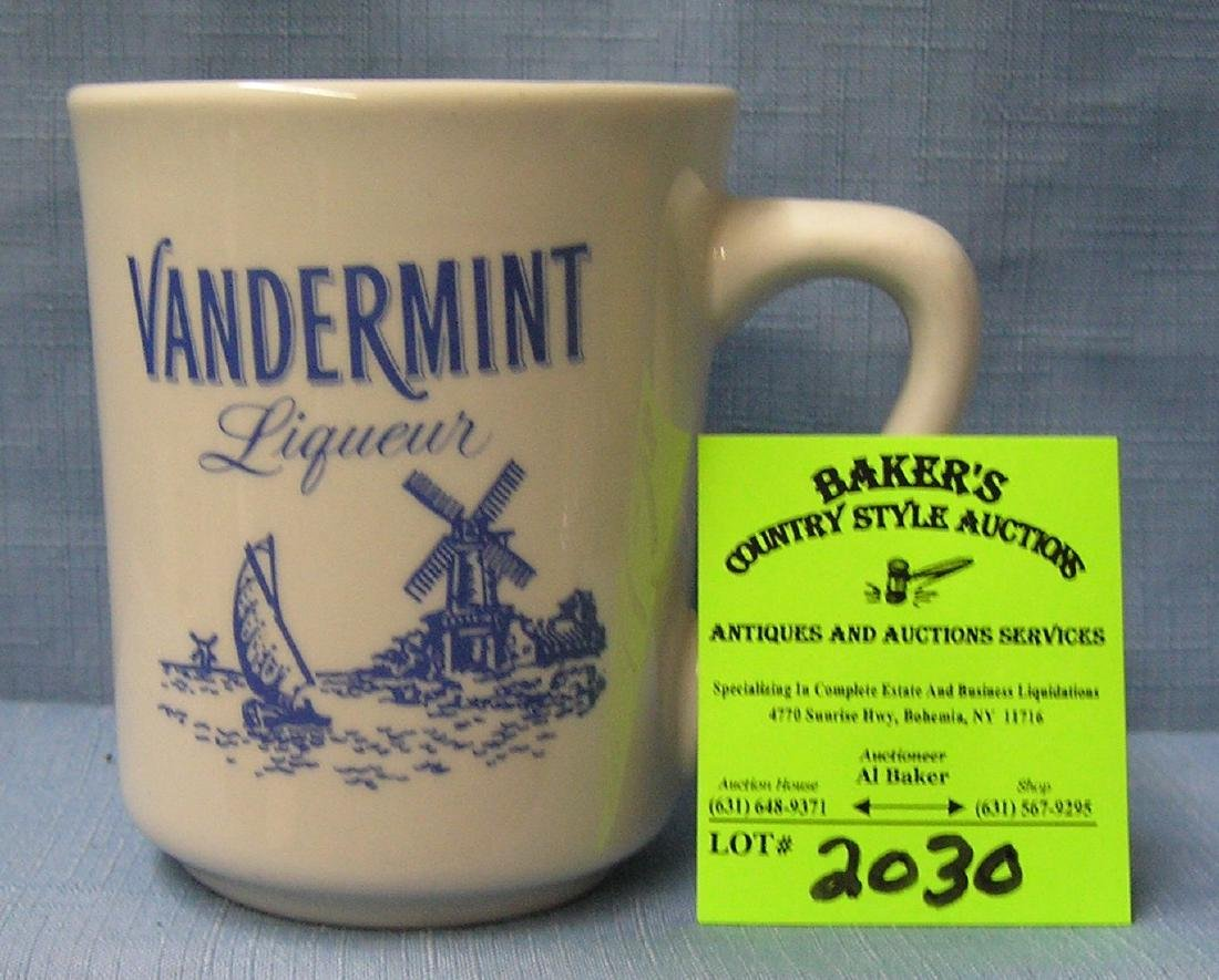 Vintage blue willow Dutch coffee mug