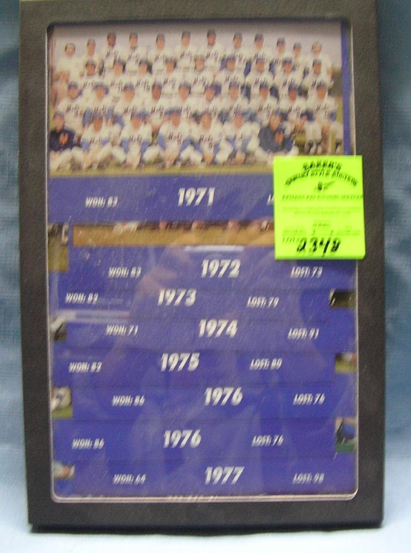 Collection of oversized NY Mets team photo cards