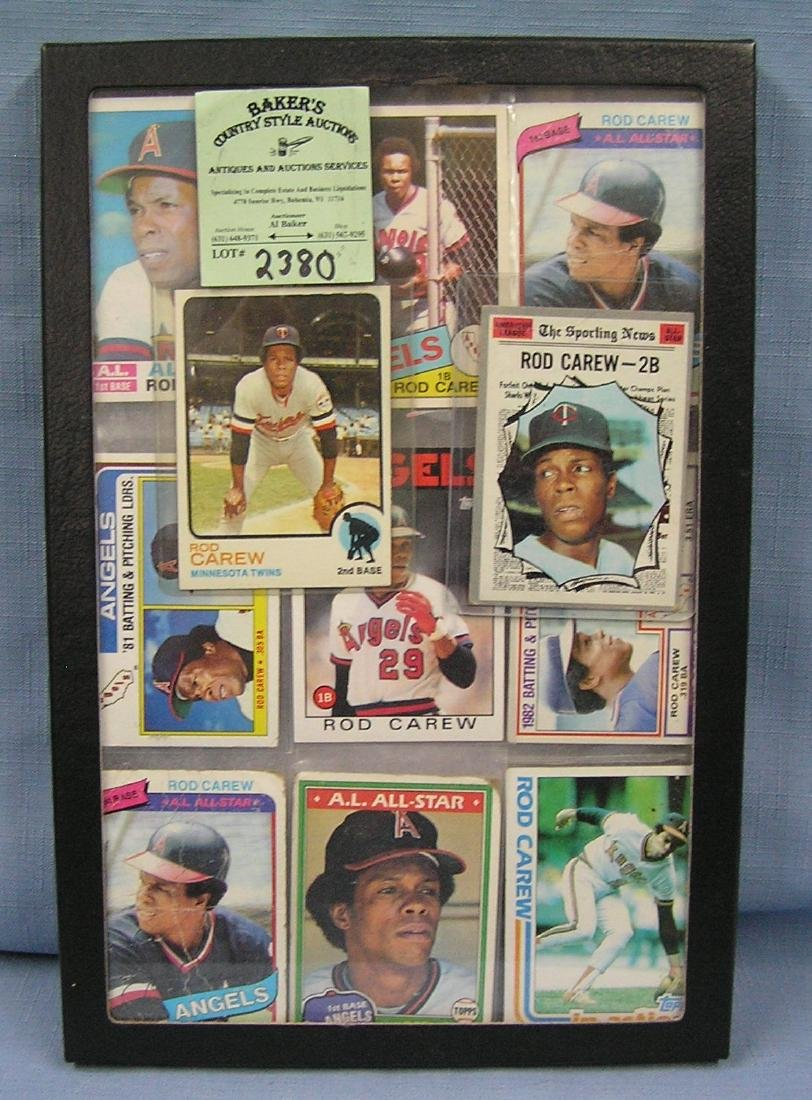 Collection of vintage Rod Carew baseball cards