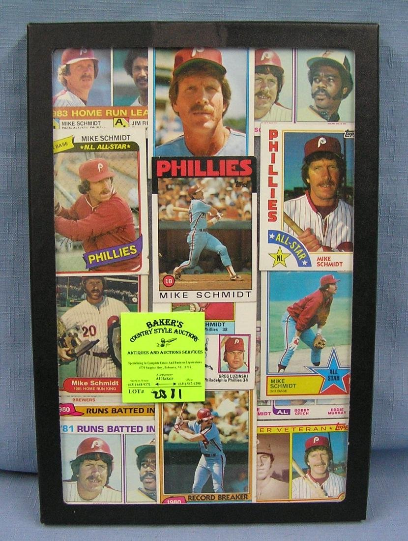 Collection of vintage Mike Schmitt baseball cards
