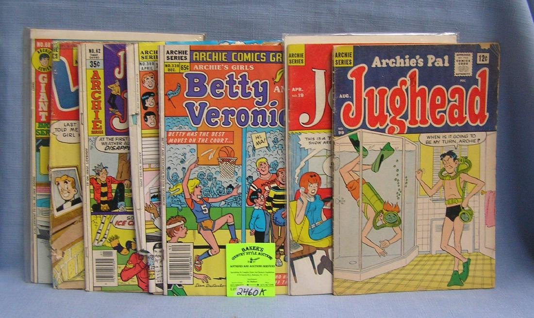 Group of early Archie and friends comic books