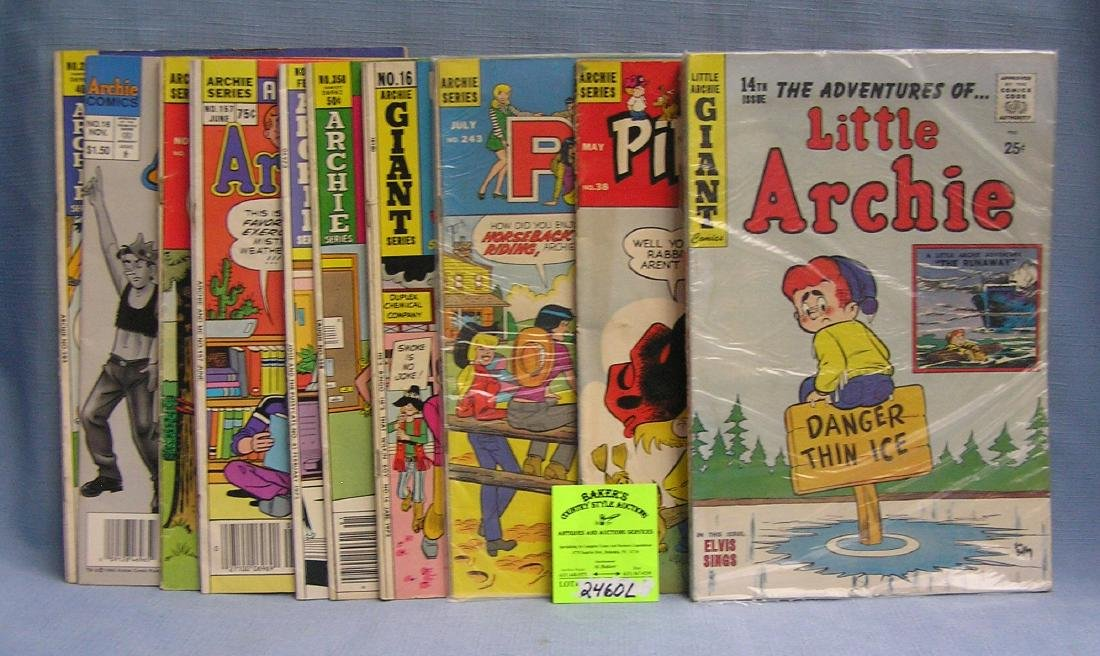 Group of early Archie comics and friends