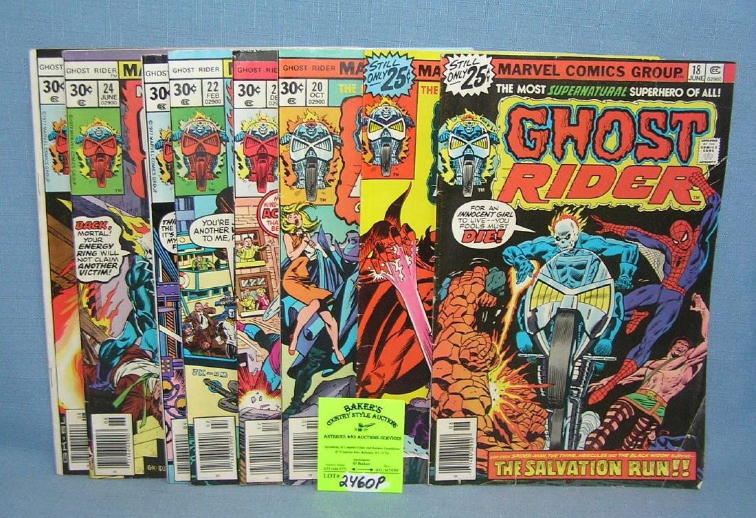 Group of early Marvel Ghost Rider comic books