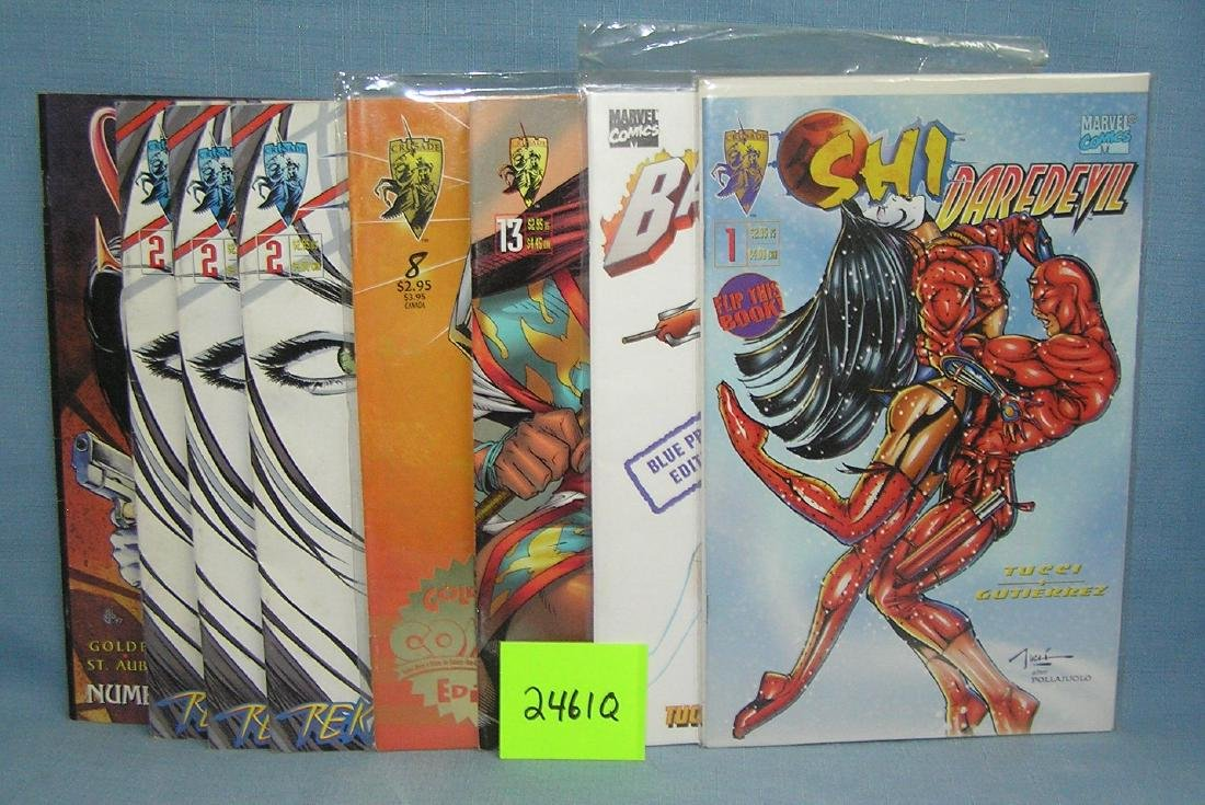 Group of early Shi comic books