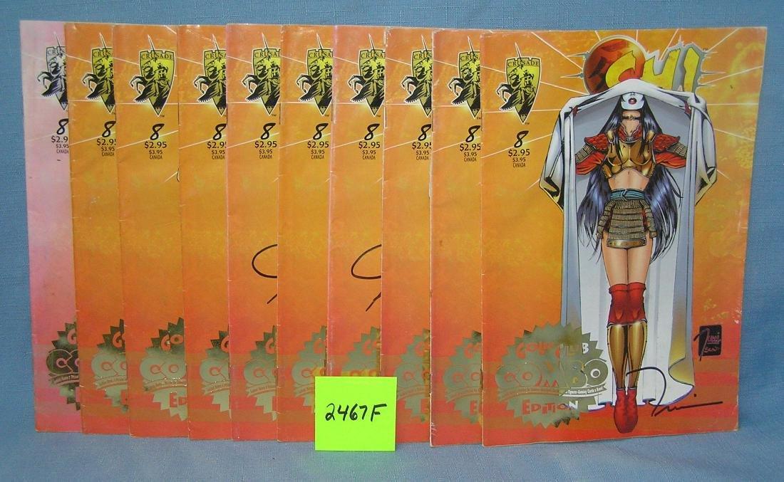 Group of 10 autographed Shi comic books